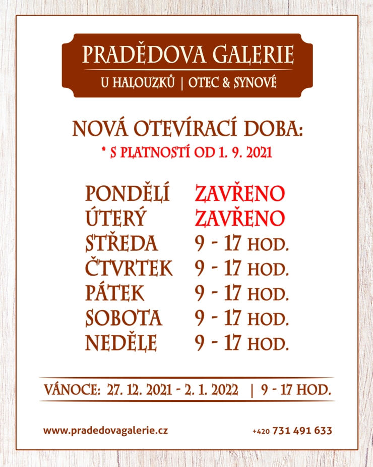 23-08-2021 - PG - Nová otevírací doba
